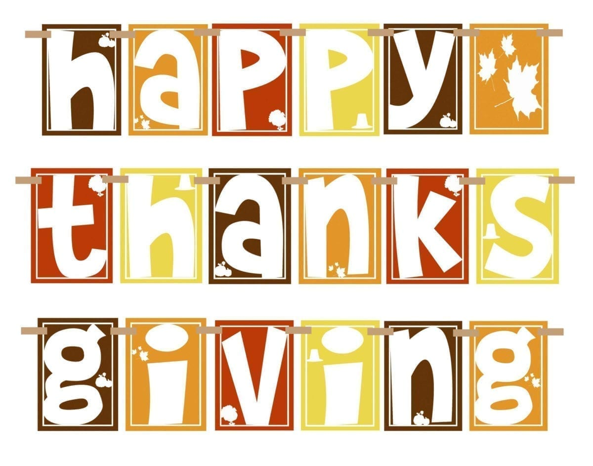 thanksgiving day sign