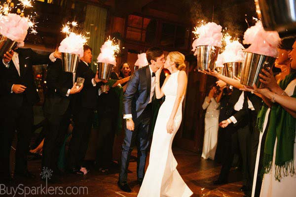 Kissing photo with Sparklers