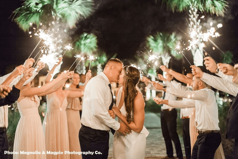 Kissing with Sparklers