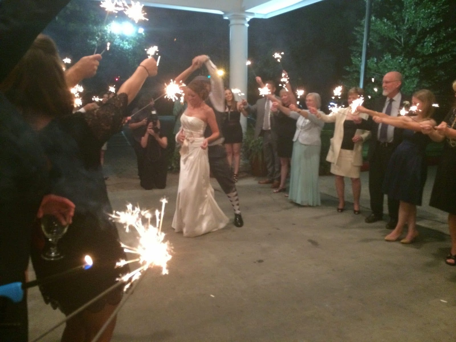 patricia ownes first dance with sparklers
