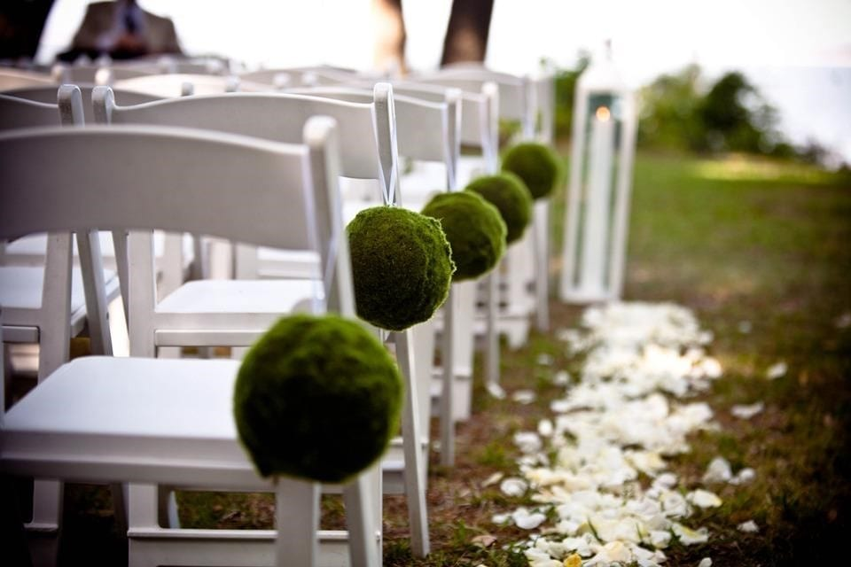 Chair Properly Placed for a Bride and Groom's Wedding Day