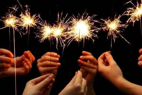 Sparklers with Friends