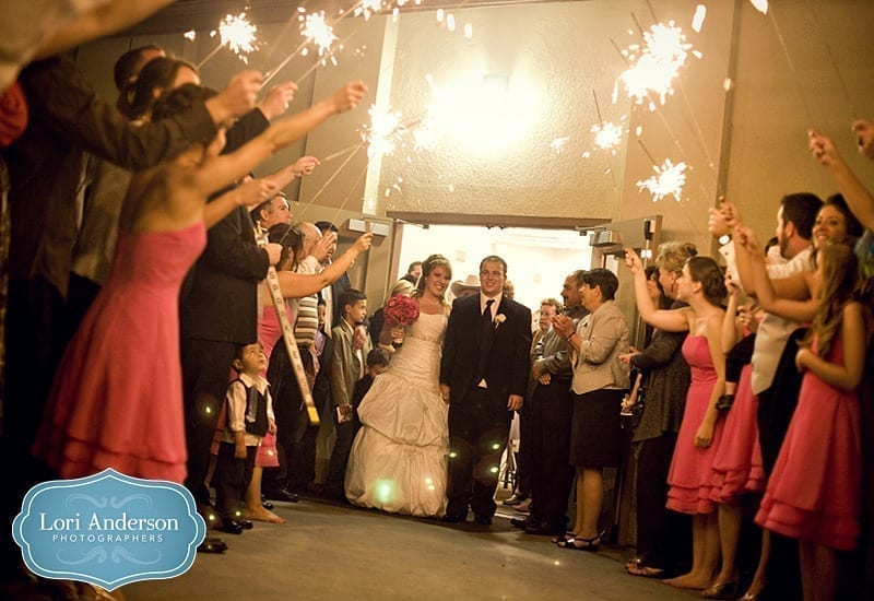 Sparkler send-off by lorianderson photography
